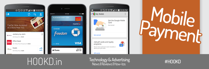 Apple Pay Google Wallet Paypal HOOKD.in